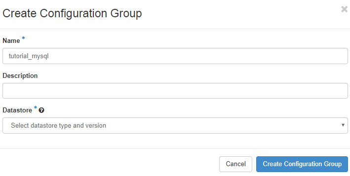 Configuration group dialog