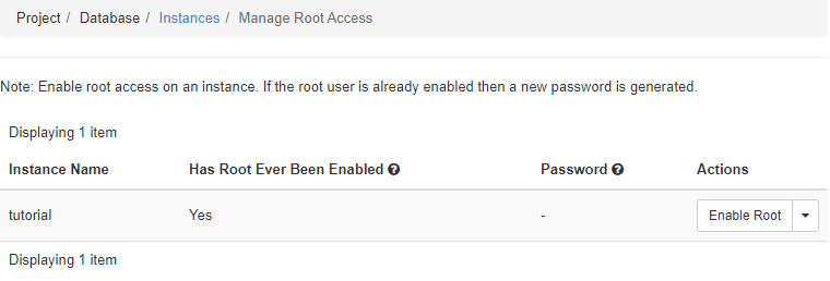 Enable Root Access Dialog